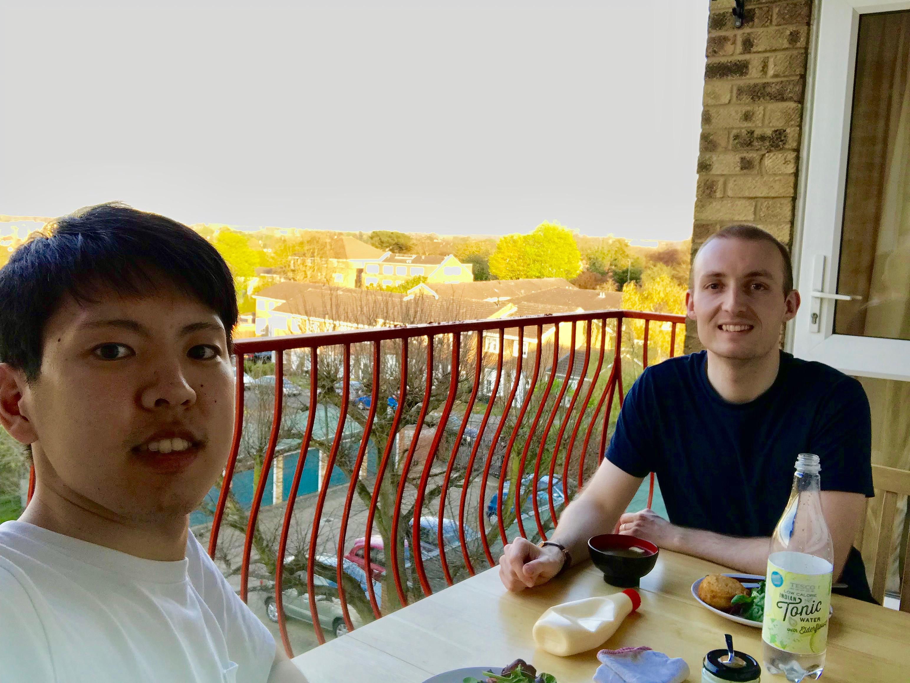 dinner balcony