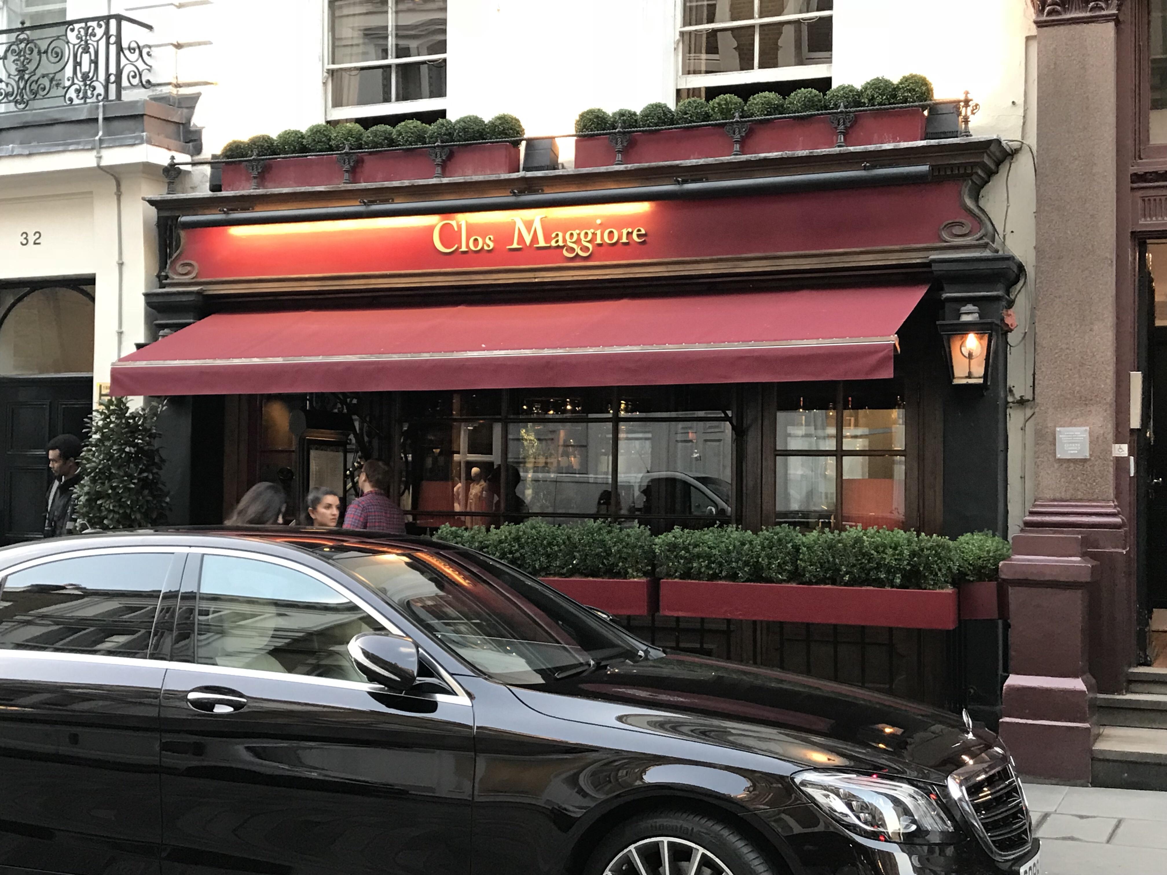Clos Maggiore ロンドン レストラン コベントガーデン