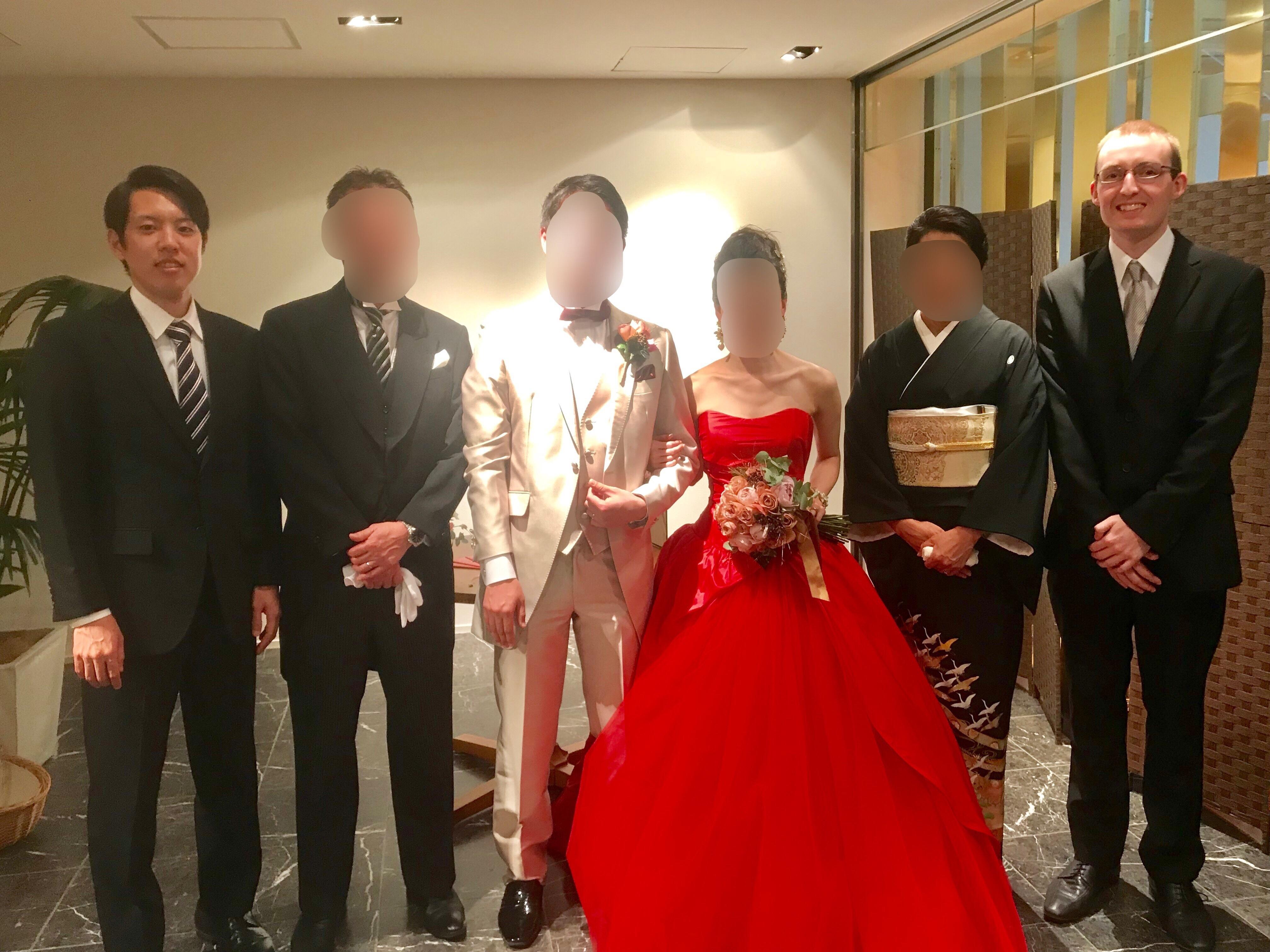 結婚式 一時帰国