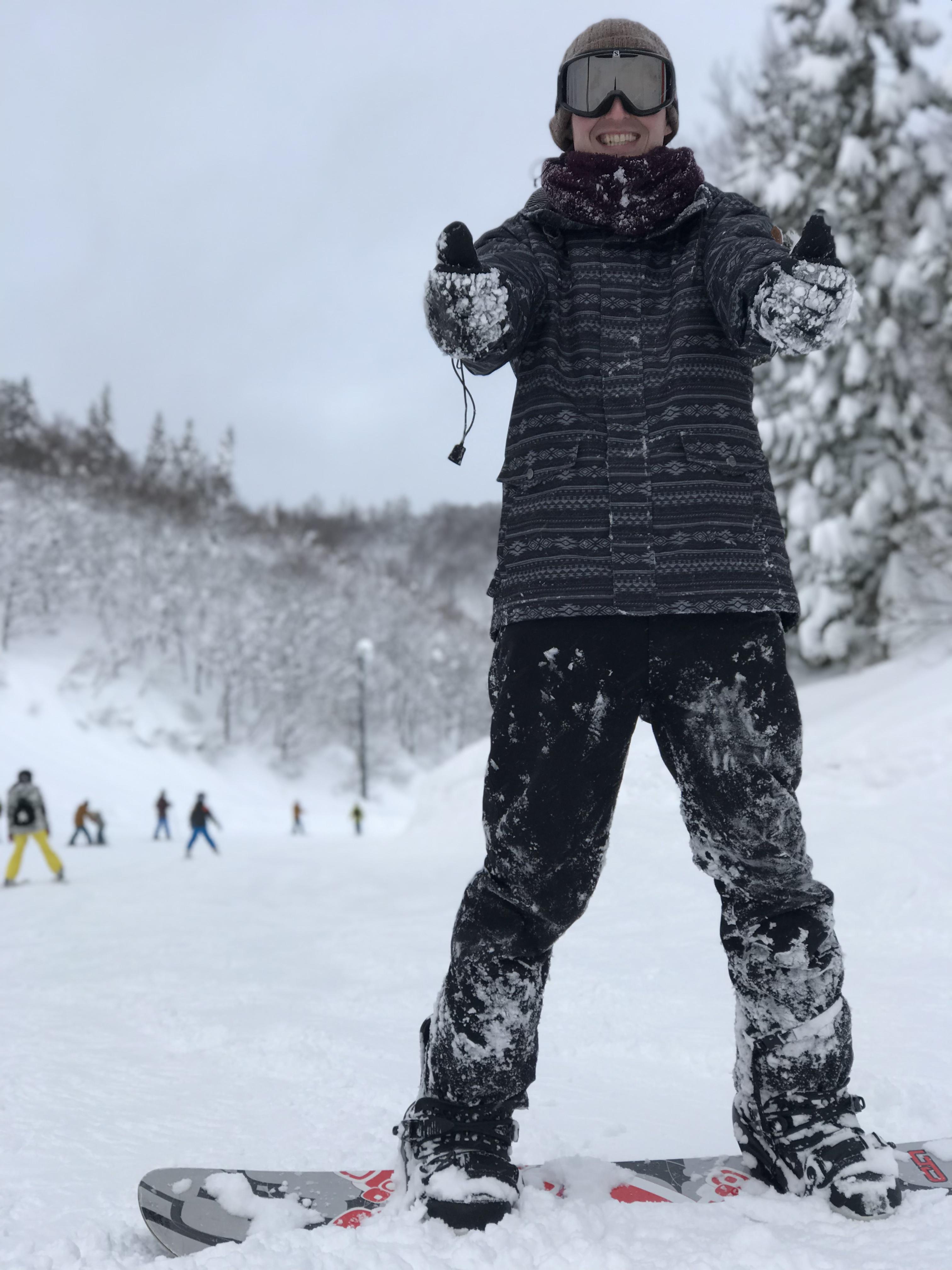 スノーボード 一時帰国 GALAスキー場